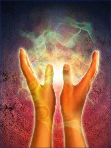 Transmission de l'Énergie Vitale par les mains